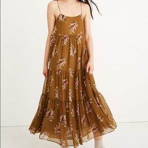 NWOT Madewell Cami Tier Midi Dress. Size 2.
